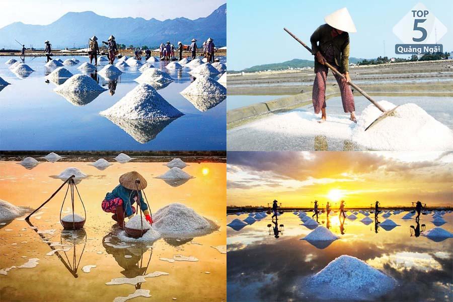 Những hình ảnh đẹp ngỡ ngàng tại Đồng muối Sa Huỳnh