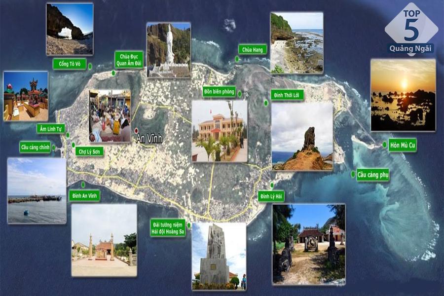 bỏ túi ngay bản đồ du lịch Lý Sơn để chuyến đi dễ dàng hơn