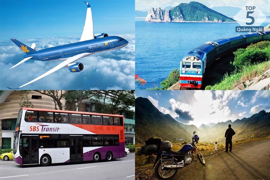 Một số loại phương tiện di chuyển khi đi du lịch Quảng Ngãi