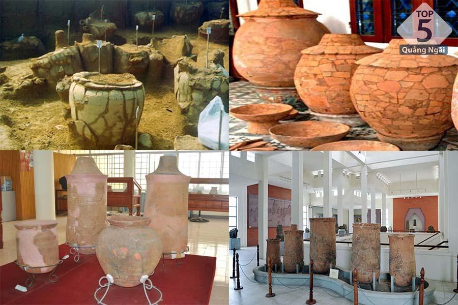 Một số cổ vật được trưng bày tại khu di tích văn hoá Sa Huỳnh