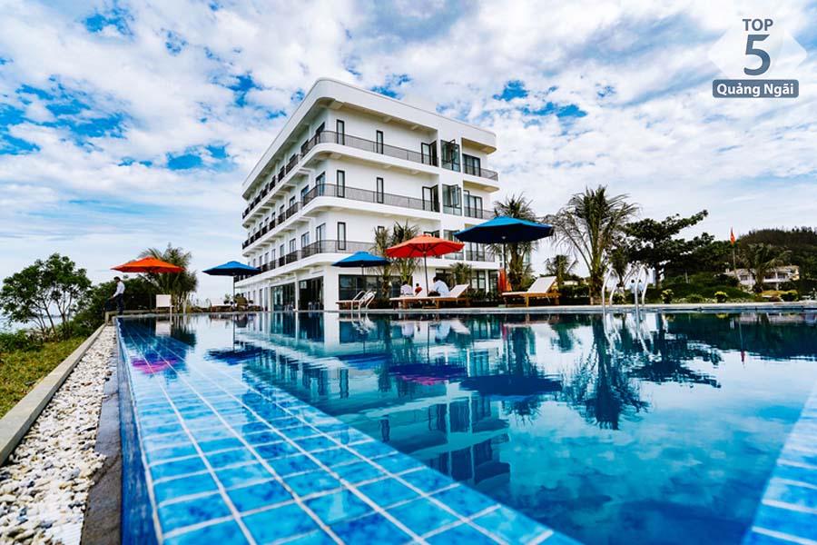 khách sạn có bãi tắm đẹp nhất Lý Sơn