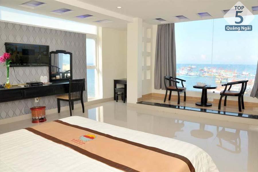 Hầu hết các phòng đều được thiết kế hướng ra biển,tạo không gian thoáng đãng cho du khách khi lưu trú
